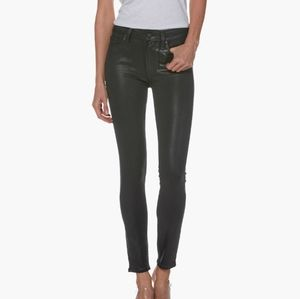 Paige | Hoxton Ankle Black Luxe Faux Leather Jeans